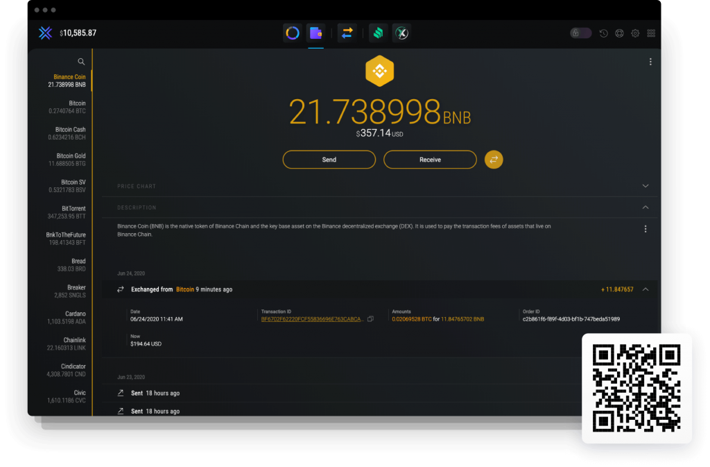 Trading Platform of Binance Exchange